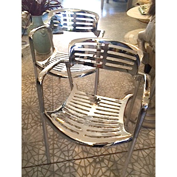 Vintage Aluminum Chairs - a Pair - Image 2 of 3
