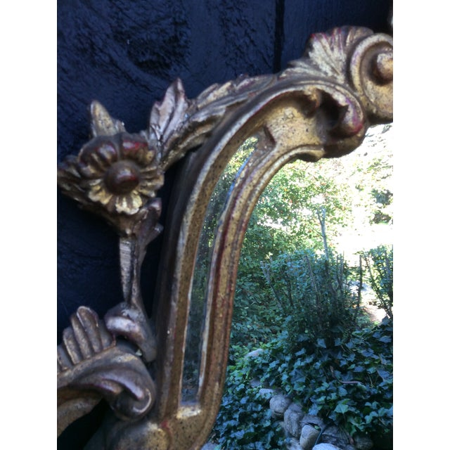 Antique Italian Gilt Carved Gold Mirror - Image 6 of 11