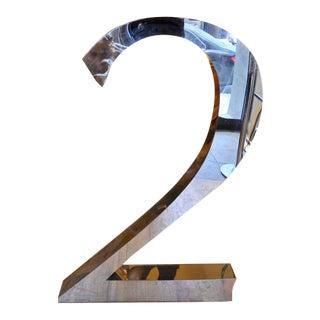 "Monumental Number ""2"" Sculpture"