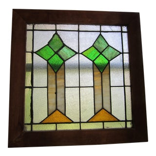 Antique Arts & Crafts Stained Leaded Glass Window