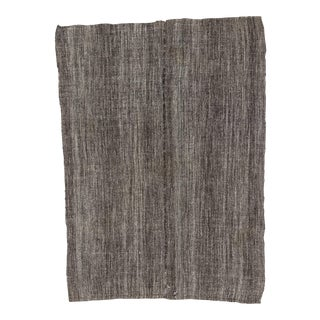 Dark Gray Vintage Kilim Rug - 5′6″ × 7′5″