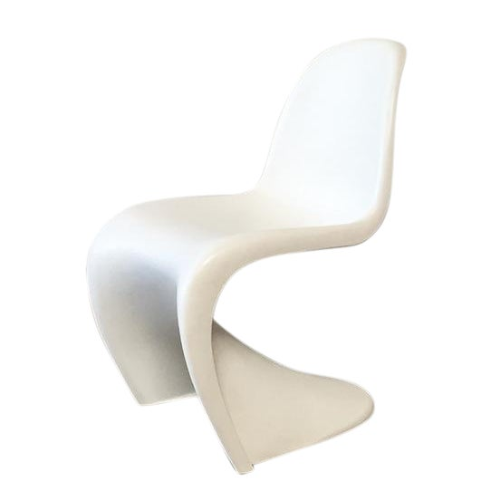 vitra white panton dining chair chairish. Black Bedroom Furniture Sets. Home Design Ideas