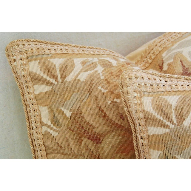 Custom Aubusson Tapestry Pillows - A Pair - Image 9 of 11
