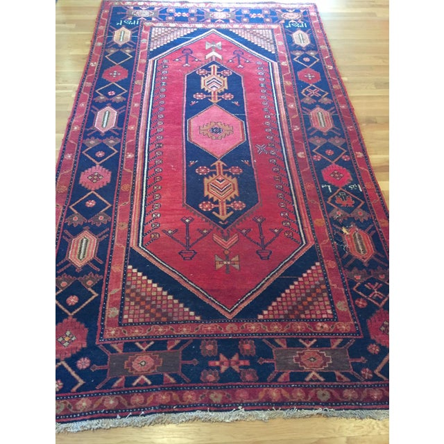 """Vintage Hand Knotted Turkish Rug - 4'11"""" x 8'11"""" - Image 3 of 10"""