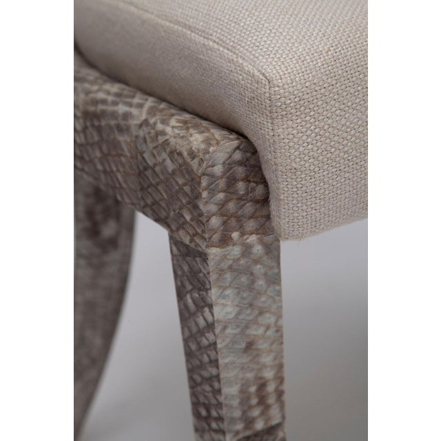 Pair of Fishskin Covered Chairs - Image 8 of 10