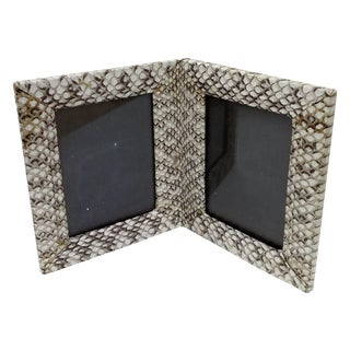 Genuine Leather & Snakeskin Personal Photo Frame