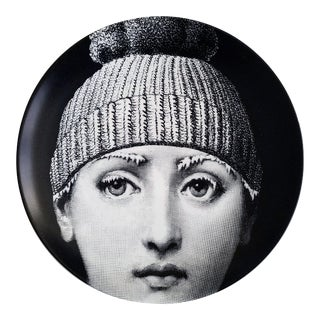 Fornasetti Tema E Variazioni Plate, Number 374, The iconic image of Lina Cavalieri. Barnaba Fornasetti.