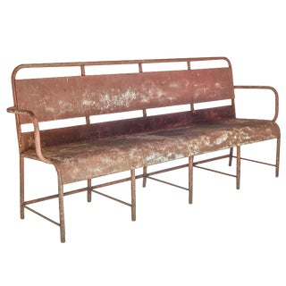 Long Industrial Train Depot Bench