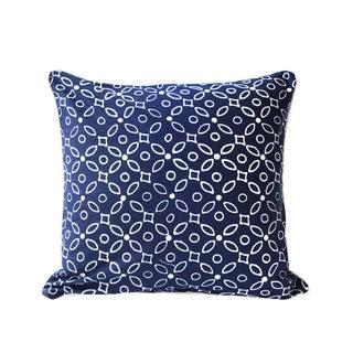 Java Indigo Throw Pillow Cover