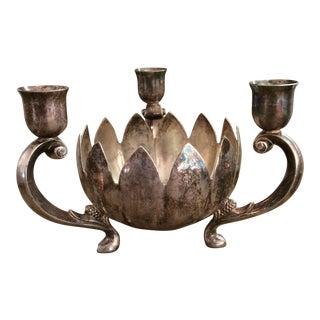 Silver Lotus Candelabra