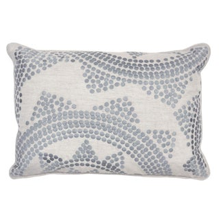 Silver Embroidered Down Pillow