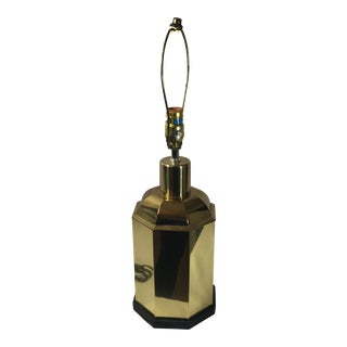 Asian Brass Canister Lamp