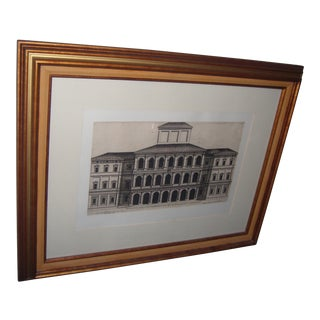 1630 Italian Palazzo Framed Architectural Print
