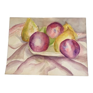 Original Still Life Pear Watercolor Painting