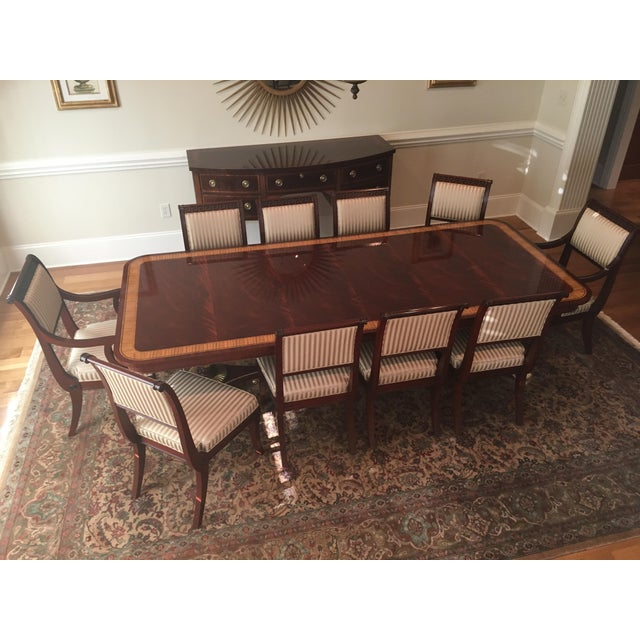 Baker Mahogany & Gold Regency Dining Set - Image 4 of 5