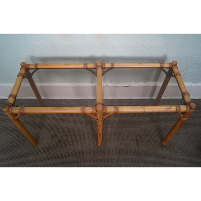 Vintage Faux Bamboo Console Table - Image 5 of 10
