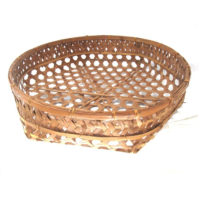 Large Round Asian Basket - Image 4 of 7