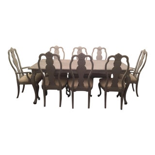 Dining Room Table and Chairs Set of 9