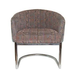 Chrome Tubular Cantilever Barrel Chair