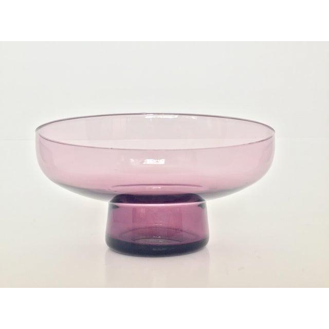 Vintage Lavender Scandinavian Art Glass Bowl - Image 5 of 7