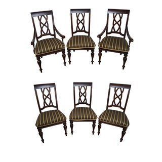 Stanley Traditional Mahogany Dining Chairs - Set of 6