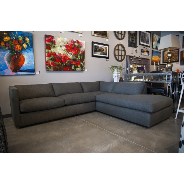 Nathan Anthony Upholstered Gray Sectional - Image 2 of 4