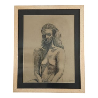 Joyce Dee Female Nude Large Original Charcoal Drawing