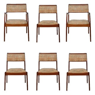 "Circa 1960 Jens Risom ""Playboy"" Chairs - Set of 6"