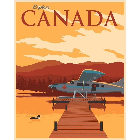 Steve Thomas Canadian Travel Poster - Image 1 of 2
