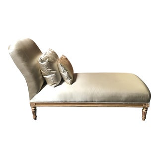 Antique Satin Upholstered Chaise
