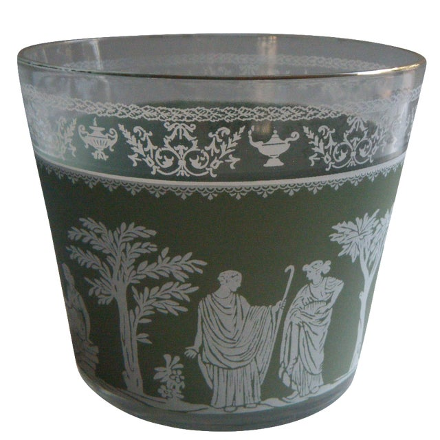 Vintage Jeanette Wedgwood Green Bar Ice Bucket - Image 1 of 5