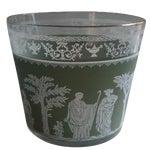 Image of Vintage Jeanette Wedgwood Green Bar Ice Bucket