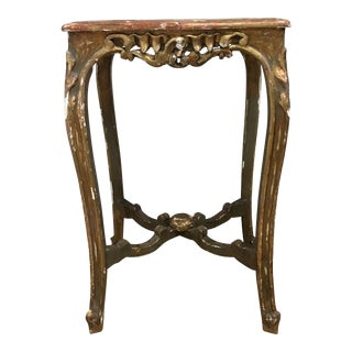 Antique Gilded Side Table