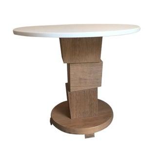 Block Pedestal Side Table