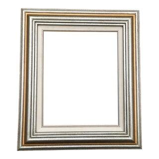 Vintage Silver & Gold Matted Frame