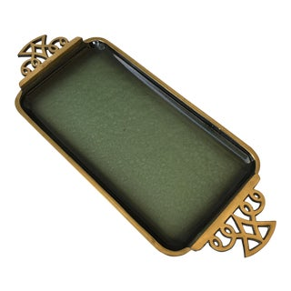 Green Enamel Accent Tray
