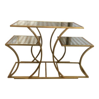 Gold Nesting Tables - Set of 3