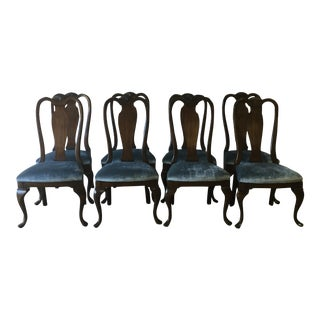 Queen Anne Side Dining Chairs - Set of 8