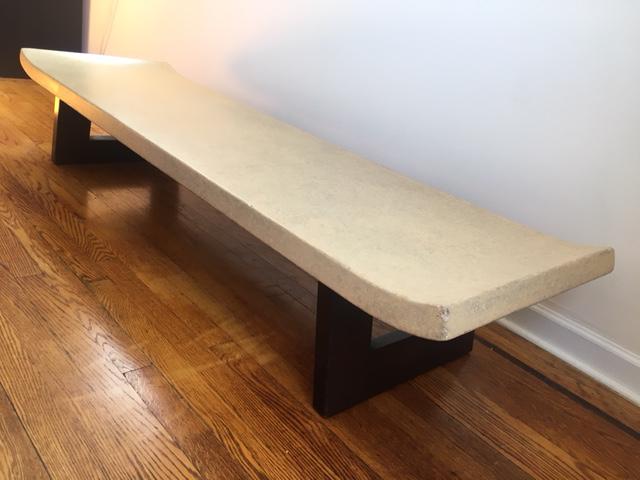 Paul Frankl Cork U0026 Mahogany Coffee Table Bench   Image 2 ...