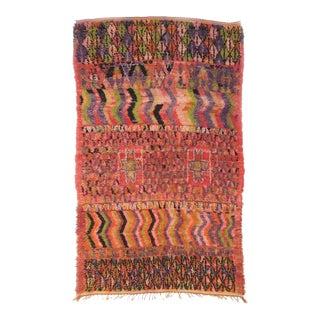 Vintage Moroccan Boujad Rug - 5′5″ × 9′3″