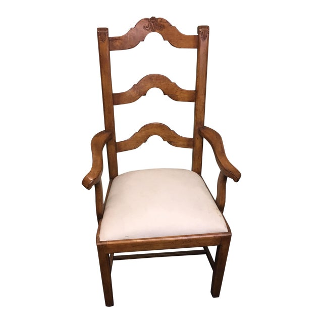 French Ladder Back Arm Chair - Image 1 of 11