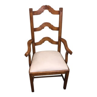French Ladder Back Arm Chair