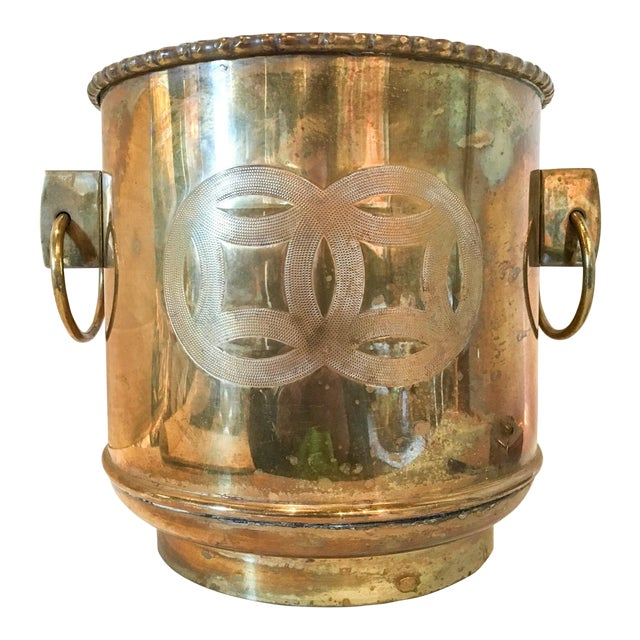 Vintage Brass Chinoiserie Ice Bucket - Image 1 of 7