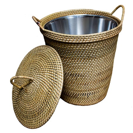Rattan Basket with Lining - Image 1 of 2