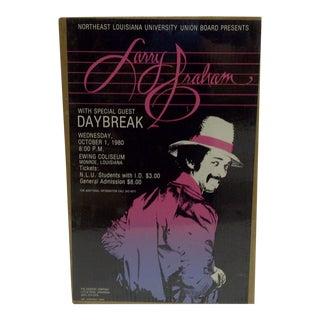 """Vintage 1980 """"Larry Graham"""" Concert Poster"""