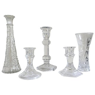 5-Piece Hollywood Regency Curated Crystal Set
