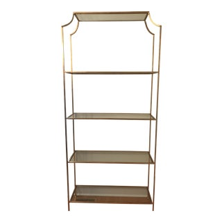 Worlds Away Gold Leafed Etagere