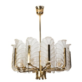 Exquisite Mid-Century Modernist Chandelier By Carl Fagerlund For Orrefors
