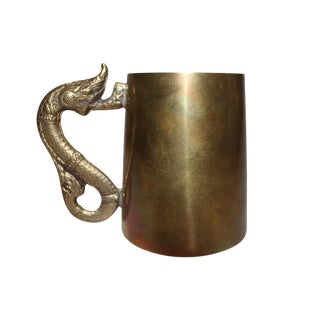 Antique Brass Serpentine Mugs - Set of 8