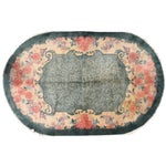 Image of 1920s Hand Made Antique Art Deco Chinese Rug - 5′ × 7′10″